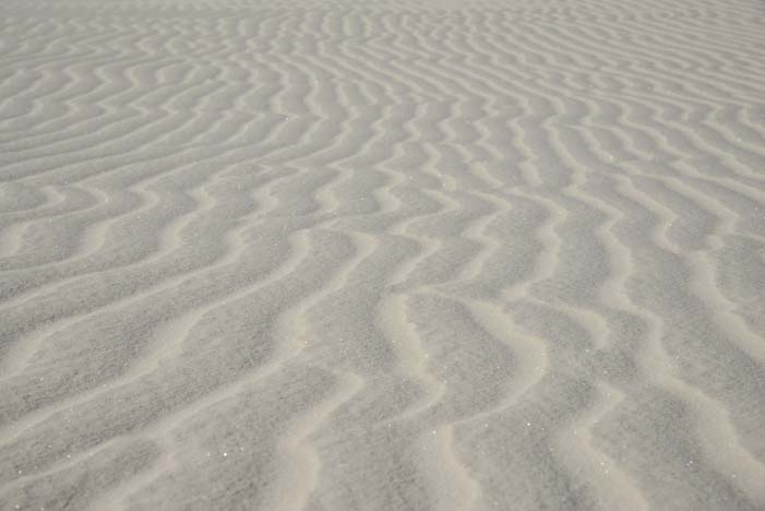 Rippled sand of White Sands National Monument in New Mexico