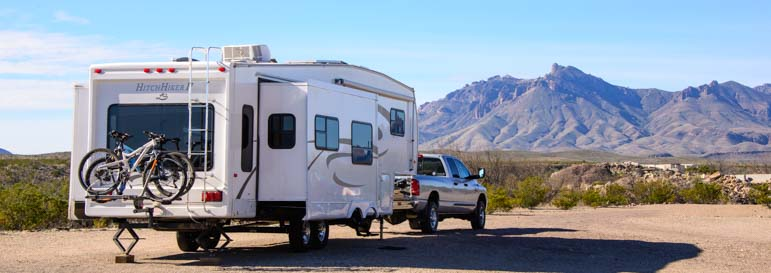 Big Bend National Park RV camping and boondocking in Texas_