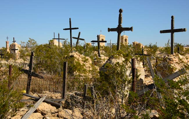 Terlingua Ghost Town Cemetery in Texas