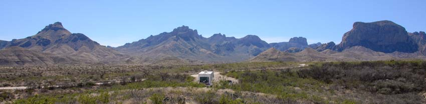 amping in Big Bend National Park in an RV in Texas