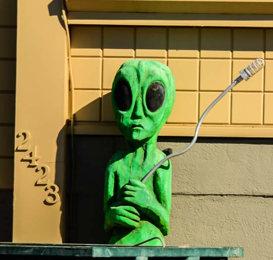 Forlorn alien in Roswell New Mexico