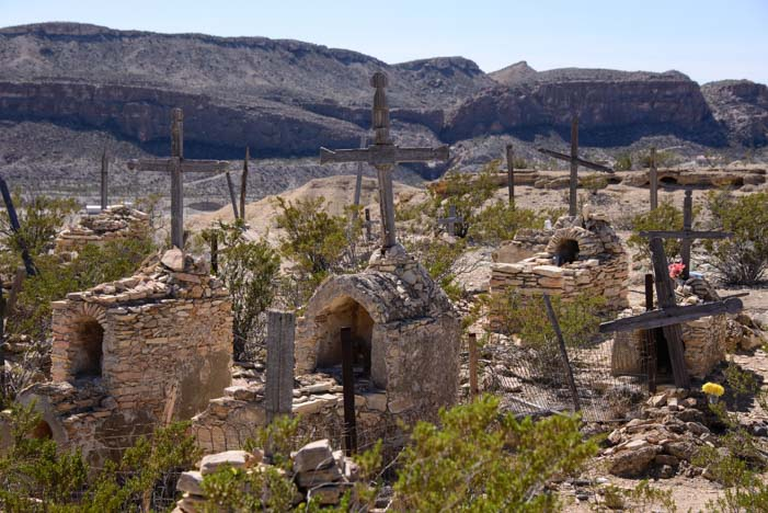 Terlingua Texas ghost town cemetery Big Bend Texas