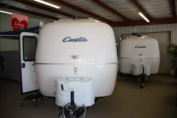 Casita trailer showroom