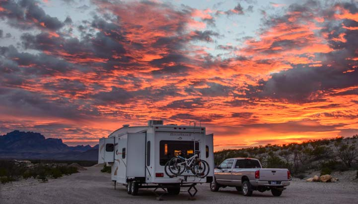 RV Boondocking and camping in Big Bend National Park Texas