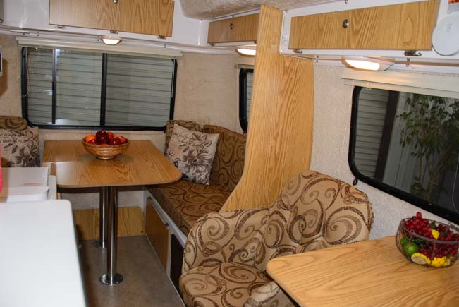 17 foot Casita Trailer interior