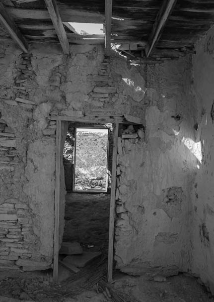 Inside a ruin in ghost town Terlingua Big Bend Texas