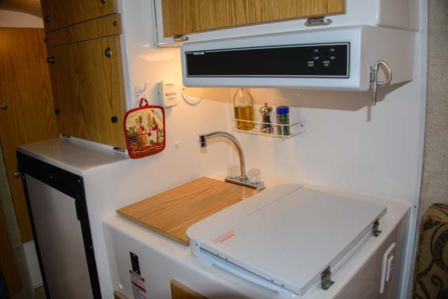 Casita Travel Trailer kitchen