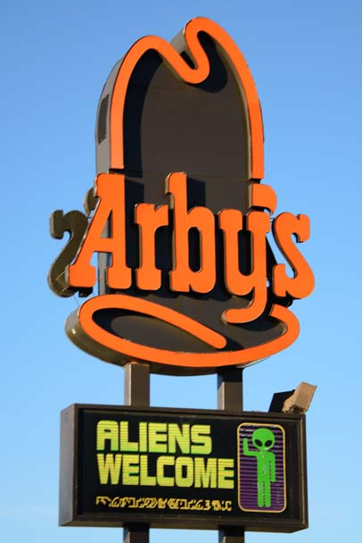 Aliens welcome at Arby's in Roswell
