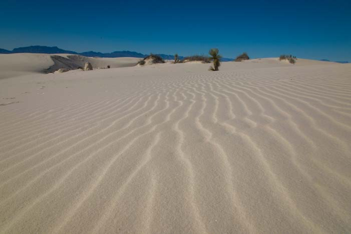 Blue sky at White Sands National Monument New Mexico