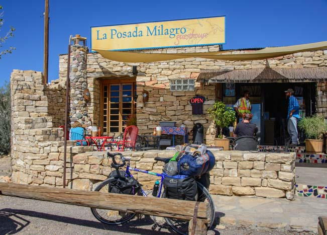 La Posada Milagro cafe in Terlingua Texas