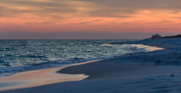 Sunset on the beach in Florida