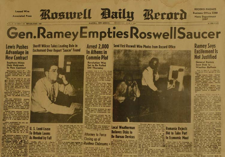 Roswell Daily Record July 3 1947