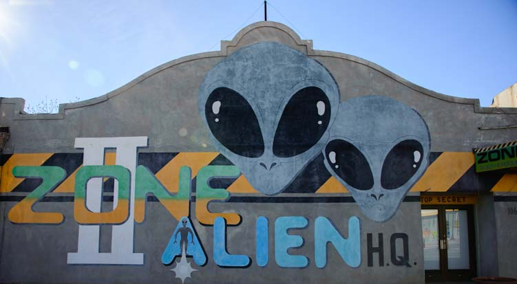The alien zone downtown Roswell New Mexico