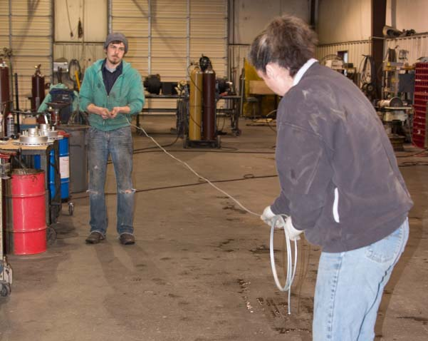 Measuring and cutting electrical wire for trailer disc brake actuator installation