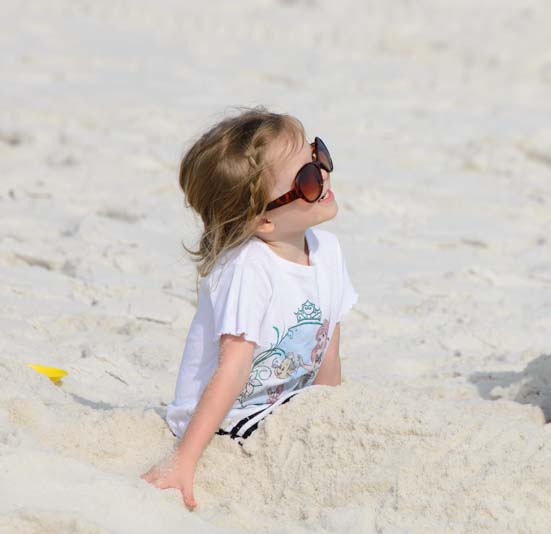 Little girl on the beach in Florida