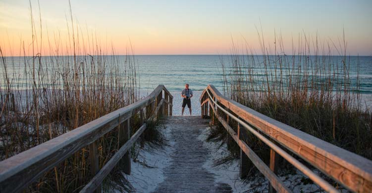 Dawn on Pensacola Beach in Florida