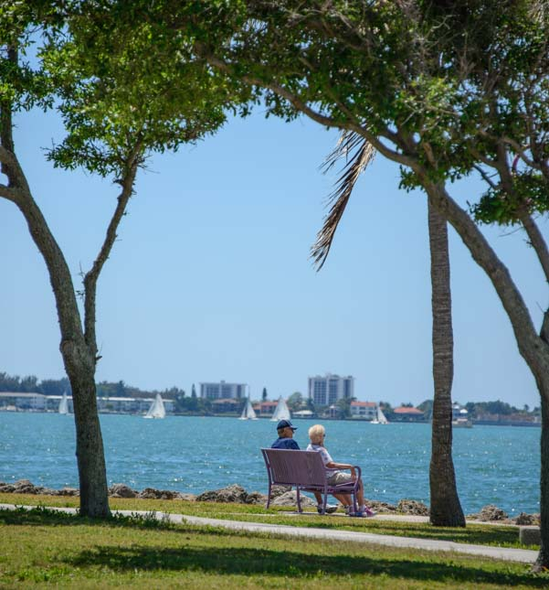 Couple on Sarasota Florida waterfront