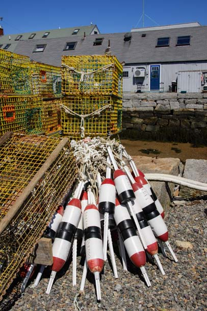 Lobster bouys in Rockport Mass