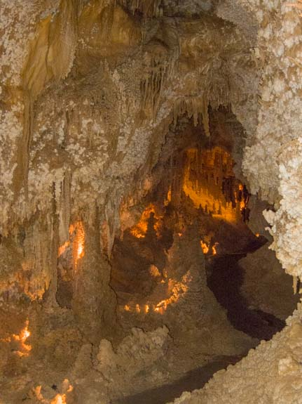 Cave lighting Crystal Palace Tour Caverns of Sonora Texas