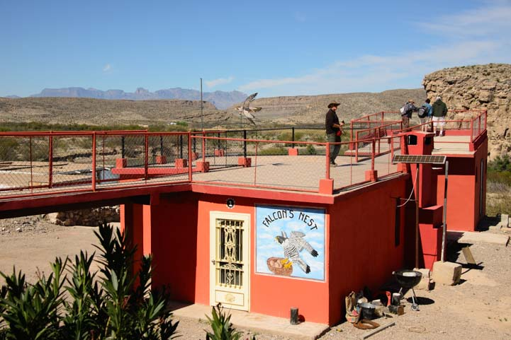 Jose Falcon's Nest Boquillas del Carmen Mexico near Big Bend Texas