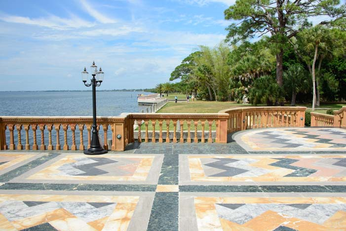 Marble patio Ringling Mansion Sarasota Florida