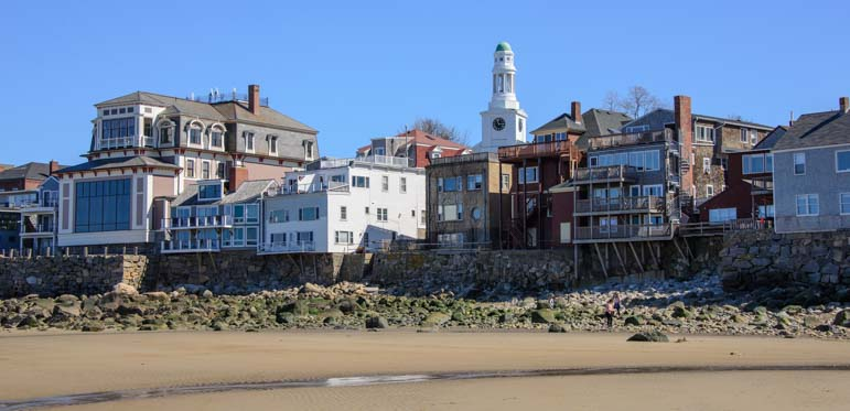View from Front Beach in Rockport MA