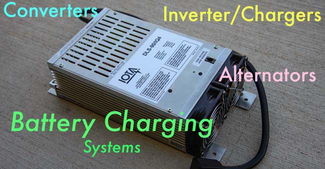 Converter Inverter-Charger Engine Alternator Battery Charging Systems