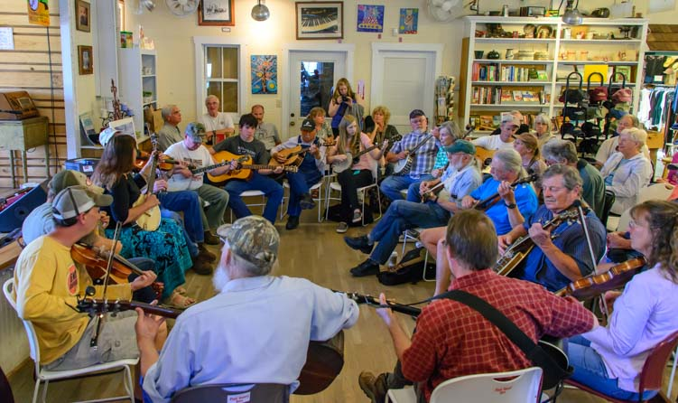 Sunday Bluegrass Music Jam The Country Store Floyd VIrginia