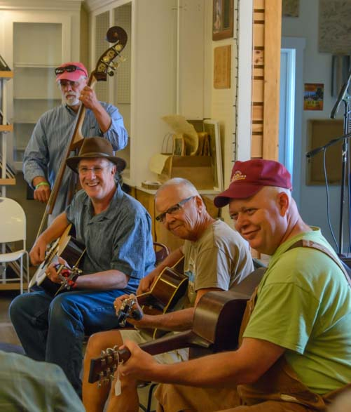 Bluegrass musicians jam at Floyd Virginia Country Store