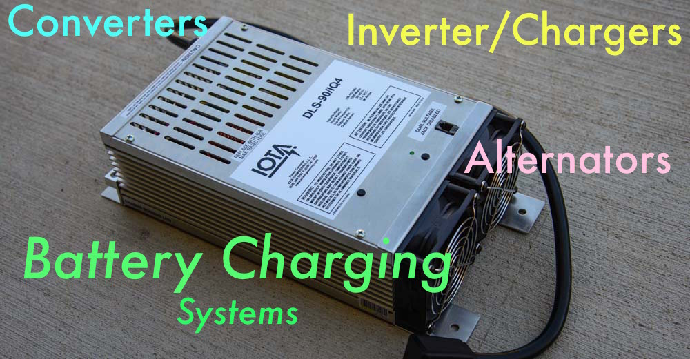 Rv Converter Inverter Charger Amp Alternator Battery Charging