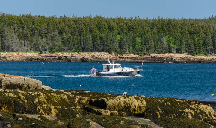 Lobster boat on the Maine coast