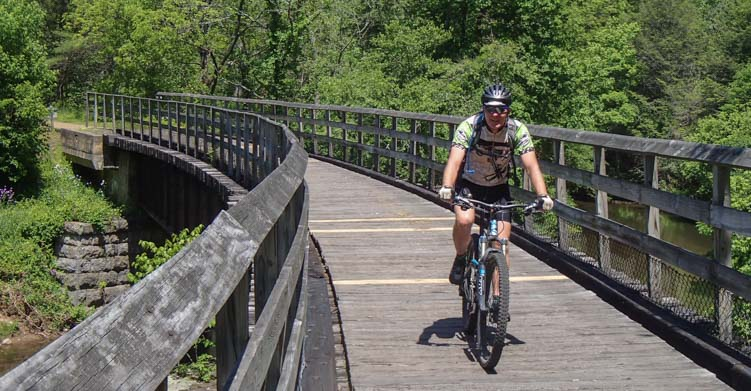 Bridge on New River Trail State Park Galax Virginia