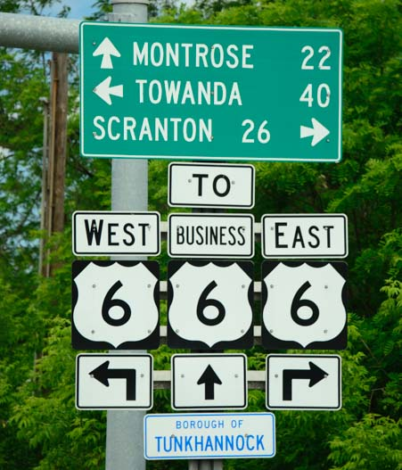Route 666 Devil's Highway road signs