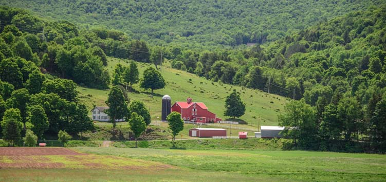 Farm in New York's Catskill Mountains
