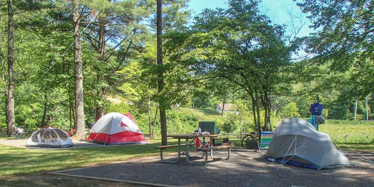 Cliffview Campground New River Trail Galax Virginia