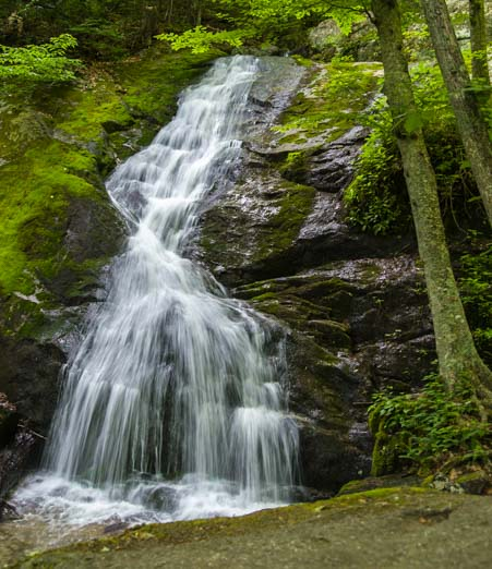 Crabtree Falls Blue Ridge Parkway Virginia lower waterfall