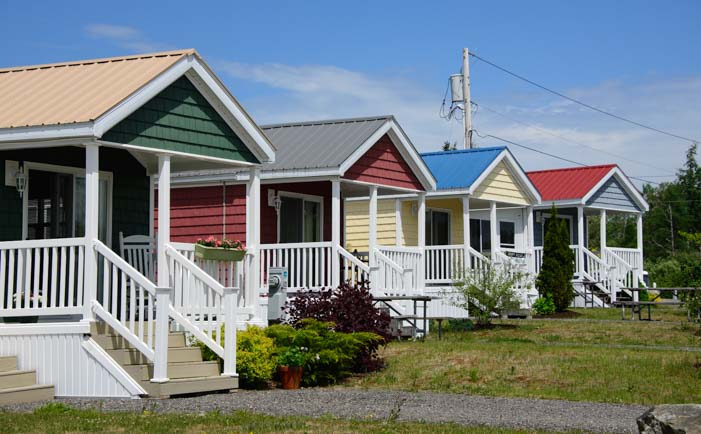 Colorful cottages Narrows Too RV Resort Encore Properties Maine