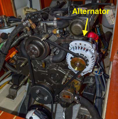 Marine diesel engine alternator Balmar ARS-4 100 amp