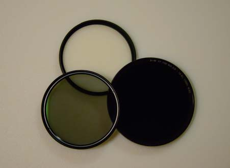 Camera UV Filter, Polarizing Filter and Neutral Density Filter