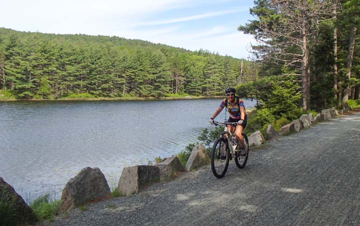 Riding the Acadia National Park carriage roads in Maine
