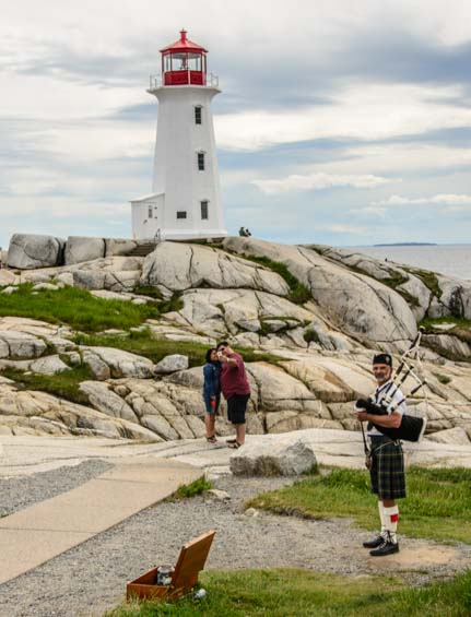 Bagpipe at Peggy's Cove Nova Scotia