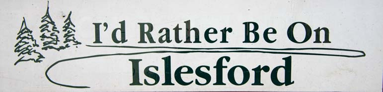 10 771 I'd rather be on Islesford bumper sticker