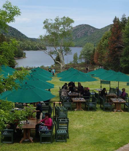 Lunch at Jordan House Acadia National Park Maine