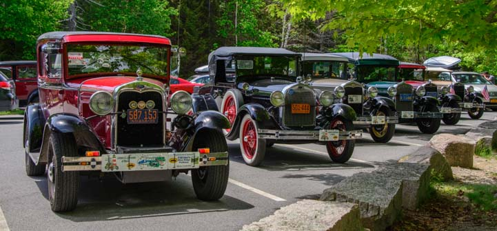 Ford Model A cars lined up