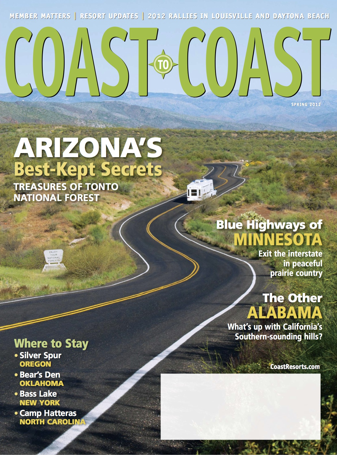 Coast to Coast Cover Spring 2012