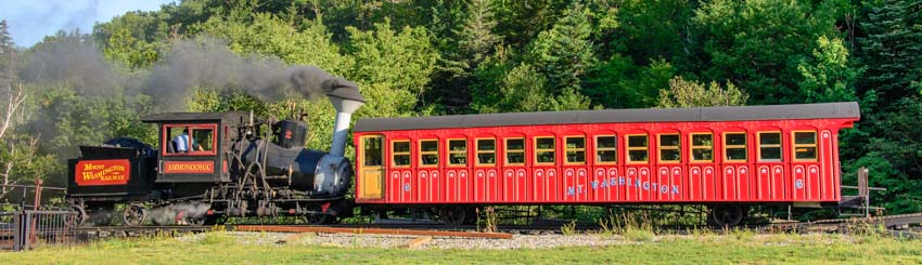 Mt Washington Cog Railway coal fired steam train engine