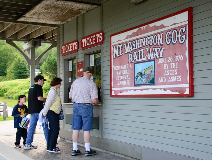 Ticket booth The Cog Railway Mt Washington New Hampshire
