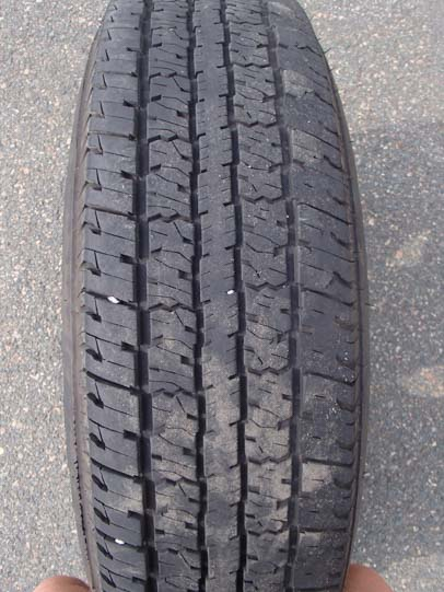 Bald tire other side