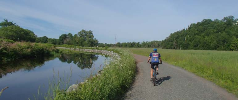 Bicycle riding in Nova Scotia Canada