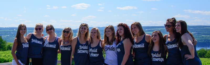 Bride and bridesmaids Bachelorette party Finger Lakes New York